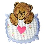 Heart Teddy Bear Iron-On Applique Patch by PC, PA-BB-A15130